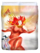 Ice Flame Duvet Cover