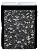 1m9335-ice Flowers On Black Ice Duvet Cover