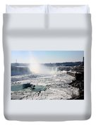 Ice Flows At Niagara Duvet Cover