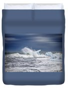 Ice In The Sea Duvet Cover