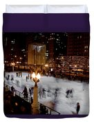 Ice Rink In Chicago  Duvet Cover
