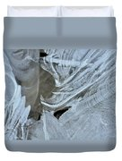 Ice Curves Duvet Cover