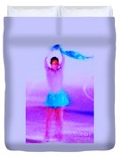 Ice Skater Abstract Duvet Cover