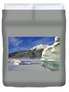 Iceberg And Mount Mcginnis Duvet Cover
