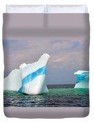 Iceberg Off The Coast Of Newfoundland Duvet Cover