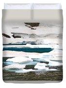 Icebergs In August Glacier International Peace Park Duvet Cover