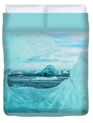 Icebergs On The Southern Beach Duvet Cover