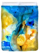 Iced Lemon Drop - Abstract Art By Sharon Cummings Duvet Cover