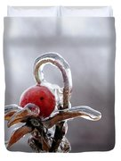 Iced Rose Hips Duvet Cover