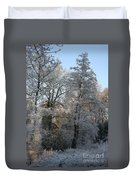 Iced Trees Duvet Cover