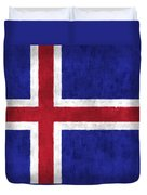 Iceland Flag Duvet Cover