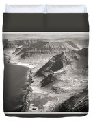 Iceland Plateau Mountains Duvet Cover