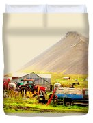 come see me at the Icelandic engine park Duvet Cover
