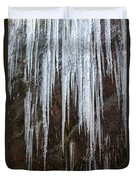 Icicles On A Cliff Duvet Cover