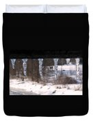 Icicles On The Bridge Duvet Cover