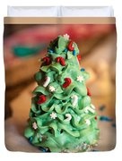 Icing Christmas Tree Duvet Cover
