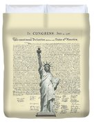 Icon Of Freedom Duvet Cover