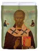 Icon Of St. Nicholas Duvet Cover