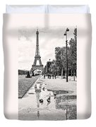 Icon Reflected Bw Duvet Cover