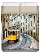 Iconic Lisbon Streetcar No. 28 IIi Duvet Cover