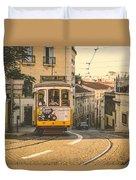 Iconic Lisbon Streetcar No. 28 Iv Duvet Cover