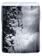Icy Cliff - Black And White Duvet Cover