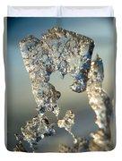 Icy Closeup Duvet Cover