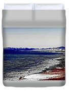 Icy Cold Seascape Digital Painting Duvet Cover