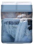 Icy Niagara Falls Duvet Cover