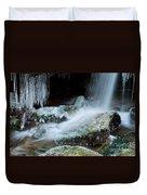 Icy Patapsco Waterfall 2 Duvet Cover