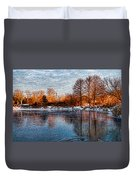 Icy Reflections At Sunrise - Lake Ontario Impressions Duvet Cover