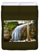 Icy Waterfall  Duvet Cover