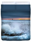 Icy Waves Duvet Cover