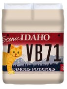 Idaho License Plate Duvet Cover