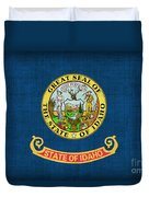 Idaho State Flag Duvet Cover by Pixel Chimp