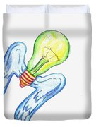 Idea Takes Flight Duvet Cover by Feile Case
