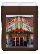 Ideal Theater In Clare Michigan Duvet Cover