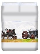 Idle Fordson Tractor On The Hill Duvet Cover