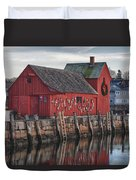 idle tyme at Motif 1 Duvet Cover