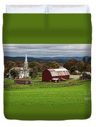 Idyllic Vermont Small Town Duvet Cover