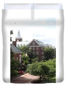 Idyllic View From Maryland State House Duvet Cover