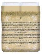 If By Rudyard Kipling Typography On Watercolor Duvet Cover