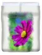 If Flowers Could Talk 01 Duvet Cover