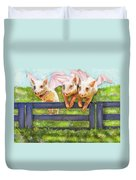 If Pigs Could Fly Duvet Cover by Jane Schnetlage