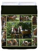 If You Love Belgian Horses Duvet Cover