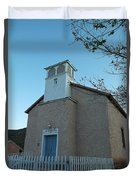 Iglesia De Jaun Batista Lincoln City New Mexico Duvet Cover
