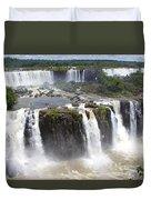 Iguacu Falls Brazilian Side Duvet Cover