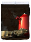 Iguana Coffee Duvet Cover