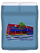 Ikaros Restaurant Baltimore Duvet Cover