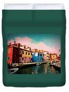 Il Colorato Villaggio Duvet Cover